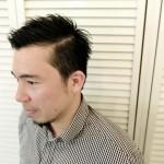 男性のショートヘア
